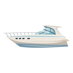 Yacht icon. Cartoon illustration of yacht vector icon for web design