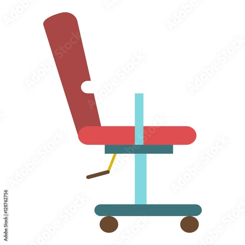 Vector barber chair icon flat illustration of barber chair vector