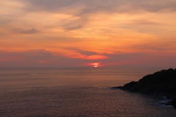 Sunset at Laem Phrom Thep in Phuket province,Thailand.