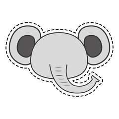 cute elephant kawaii character vector illustration design