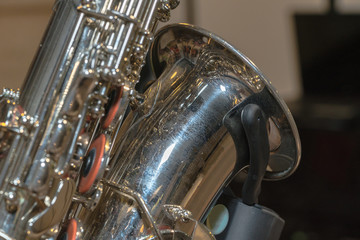 part of shiny  saxophone