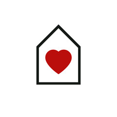 House abstract vector icon, harmony at home idealistic concept.
