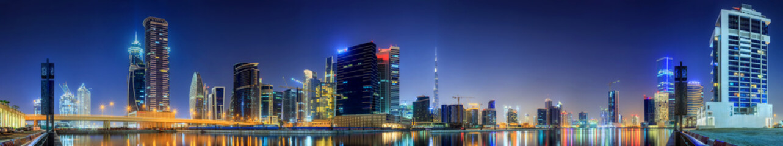 Fototapeten Singapur Business bay of Dubai, UAE