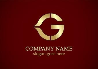 letter g gold vector logo