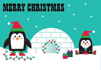 merry christmas penguins