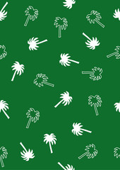 Palm tree pattern in green color
