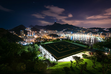 Wall Mural - Night View of Botafogo in Rio de Janeiro from Urca Mountain