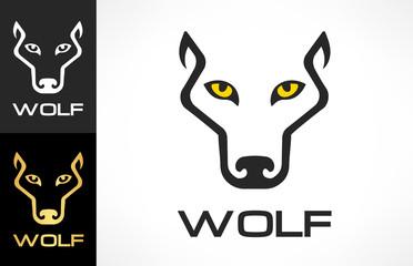 Wolf Head silhouette. Wolf logo vector.
