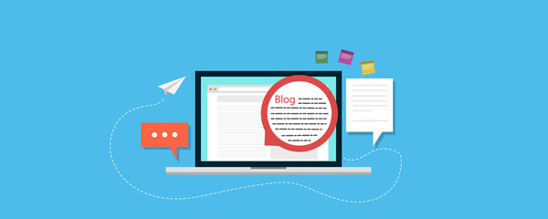 on page search engine optimization blogging theme flatform, vector illustration