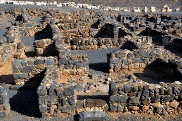 Ausgrabungen in Kapernaum am Nordufer des Sees Genezareth