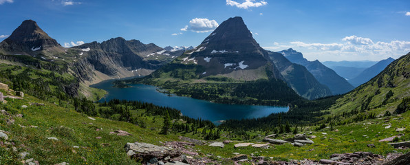 Hidden Lake Panorama, Glacier National Park
