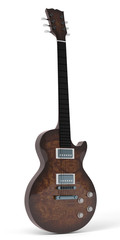 Brown Gibson LP style guitar