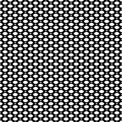 Vector monochrome seamless pattern, simple black & white geometric texture, illustration on mesh, lattice, tissue structure. Endless abstract background. Design element for prints, decoration, textile