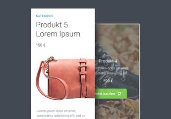 Einfaches UI-Kit für Produkte
