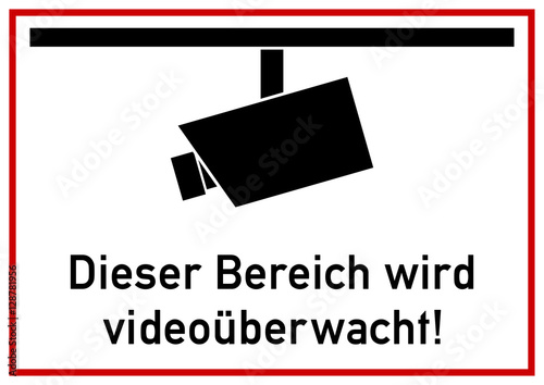 vss18 videosurveillancesign vss ks151 kombi schild hinweis zeichen piktogramm. Black Bedroom Furniture Sets. Home Design Ideas