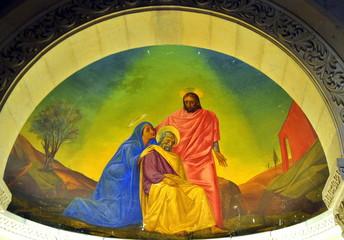 Wandbild in der Verkündigungsbasilika von Nazareth
