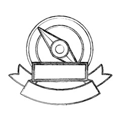 Compass icon. Instrument tool navigation location and object theme. Isolated design. Vector illustration