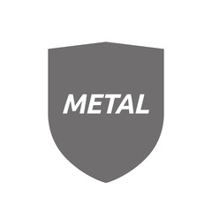 Isolated shield with    the text METAL