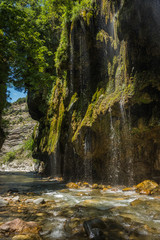 Waterfalls on the river Krikiliotis at Panta Vrexei in Evritania