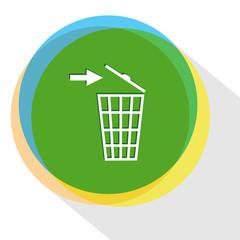 recycling bin.