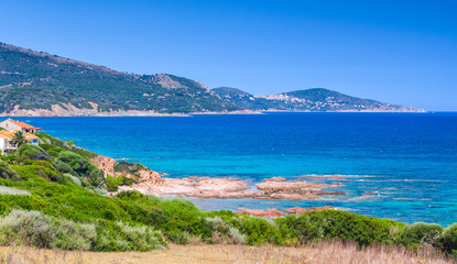 Panoramic coastal landscape of South Corsica