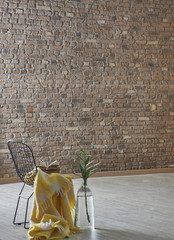 decorative home concept with brick wall