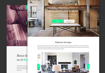 Diseño de página interactivo elegante