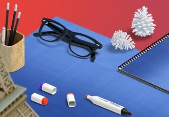 Escenas para maquetas de presentación de escritorio