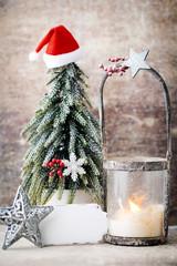 Candlestick. Christmas lantern. Cristmas decoration, greeting ca