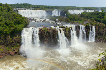 Iguazu Falls. Natural Wonder of the World. The majestic beauty  the waterfalls