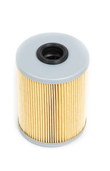 Fuel filter for the car on a white background