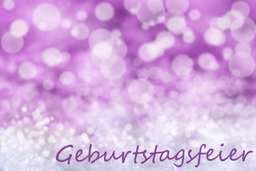 Pink Bokeh Christmas Background, Snow, Geburtstagsfeier Means Birthday Party