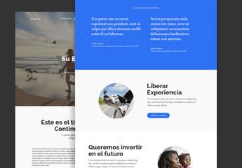 Diseño de página interactivo Shasta