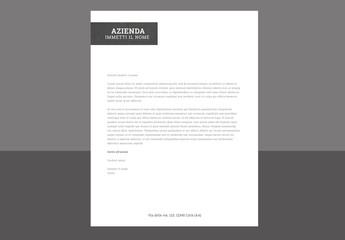 Carta intestata moderna