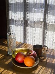 Bowl of Fruit in Dappled Light