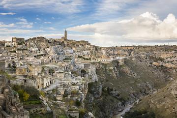 View of old town Sassi di Matera, Basilicata, Italy