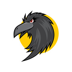 Crow Head Vector Logo