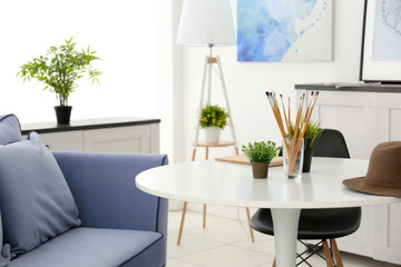 Modern interior on light background