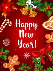 Happy New Year holiday background