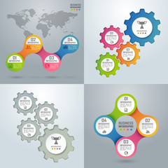 Colorful business infographics and diagram, paper art concept