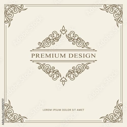 Vintage ornament greeting card vector template retro luxury vintage ornament greeting card vector template retro luxury invitation royal certificate flourishes frame m4hsunfo