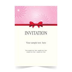 Invitation card, wedding card floral background