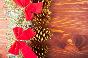 Christmas background wooden