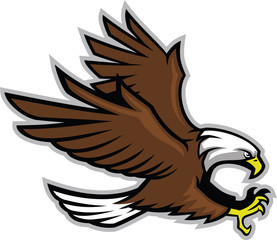 Vector of eagle in sport mascot style