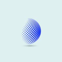 Sphere bubbles logo blue