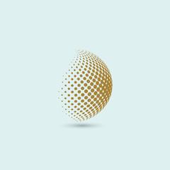 Sphere bubbles logo brown