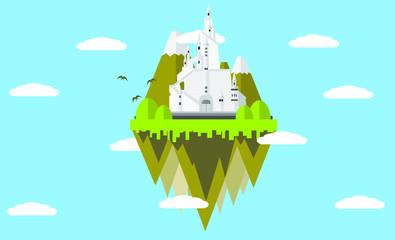 天空の城のイラスト
