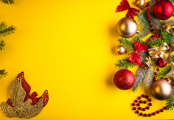 Yellow Christmas background