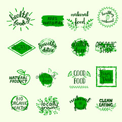 Healthy Food Labels Set