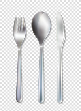 Stainless Cutlery Tableware Set Transparent Background